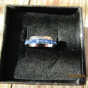 Jewelry - New Blue Stainless Steel Ring sz 7